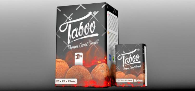 Kokosriekstu ogles ūdenspīpēm Taboo (video)