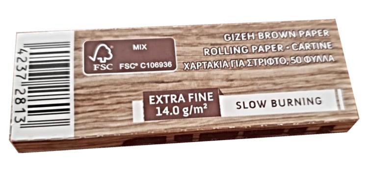Новая коричневая сигаретная бумага GIZEH уже в продаже!