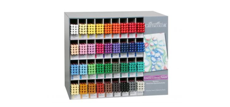 Profesionāli krāsas zīmuļi Cretacolor Megacolor