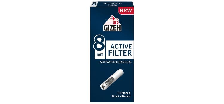 Новые сигаретные фильтры GIZEH Active Filter уже в продаже!